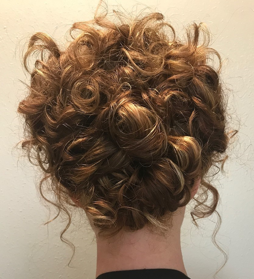 Messy Updo for Curls