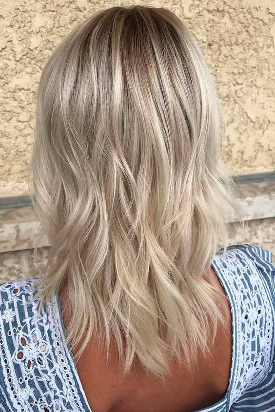 Mid Length Ombre Waves.