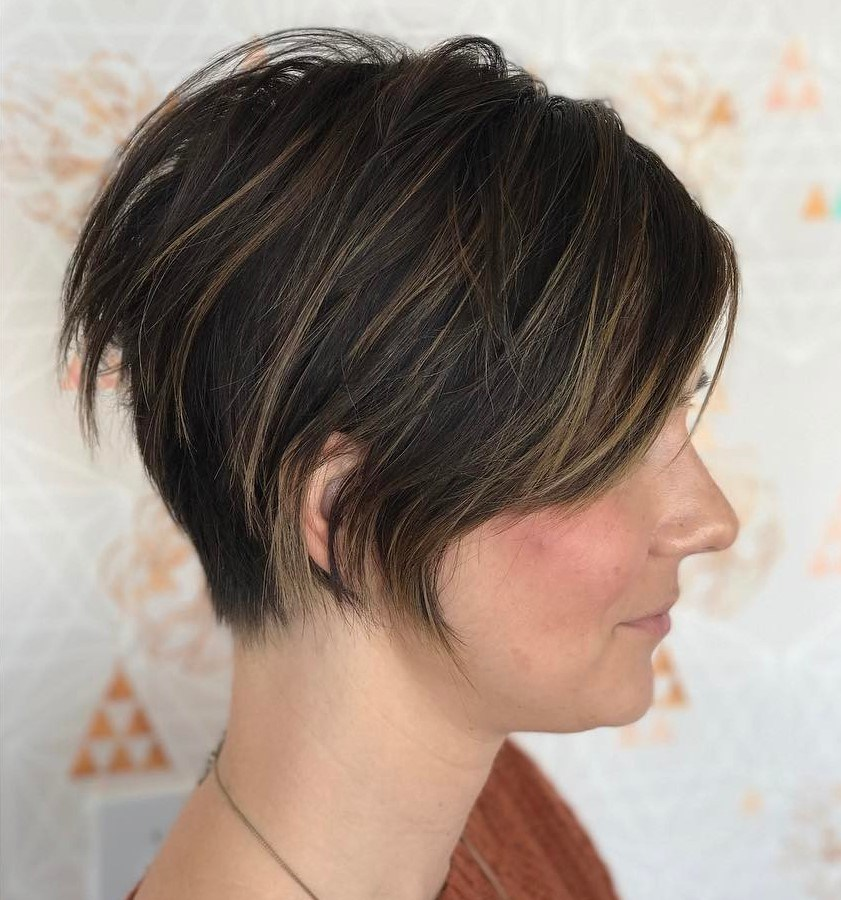 Modern Pixie with Long Bangs