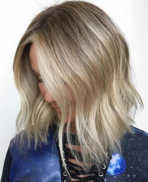 Multi Tonal Mid Length Hair