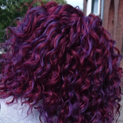 Multi Tone Long Curly Hairstyles
