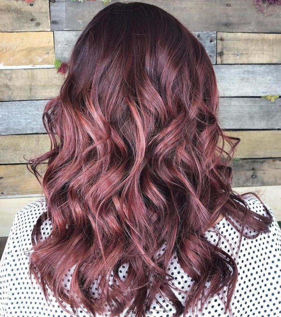 Muted Burgundy Wine Hair