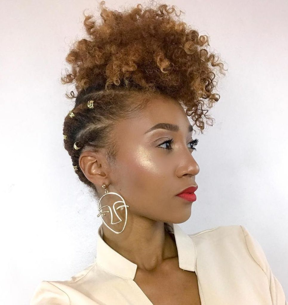 Natural Pineapple Updo