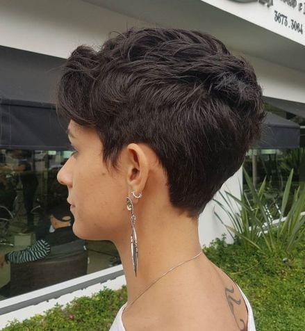 Neat Feathered Pixie Cut