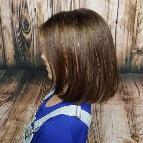 Pretty Lob with Metallic Accents for Girls