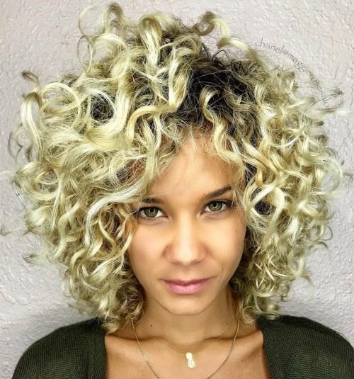 Ravishing Golden Blonde Curly Hairstyle