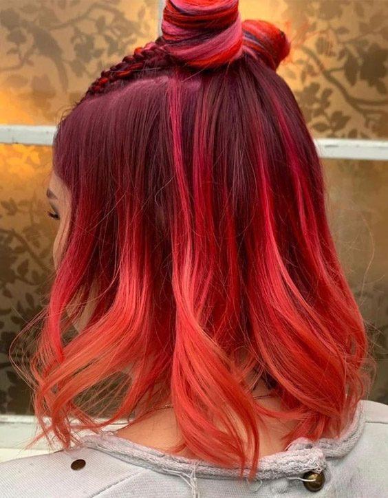 Red Hair Color for Medium Length Hair