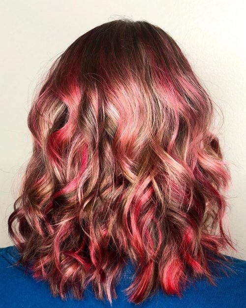 Red Highlights on Light Brown Hair