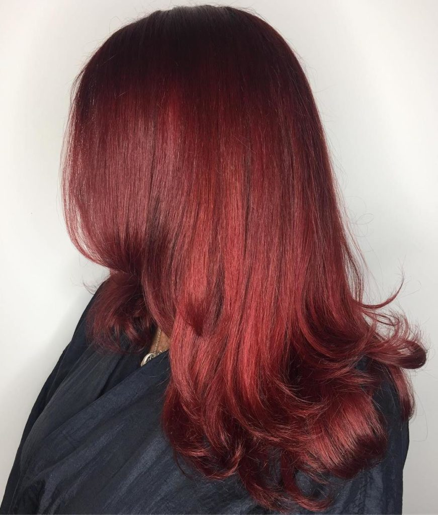 Scarlet Red Long Layers