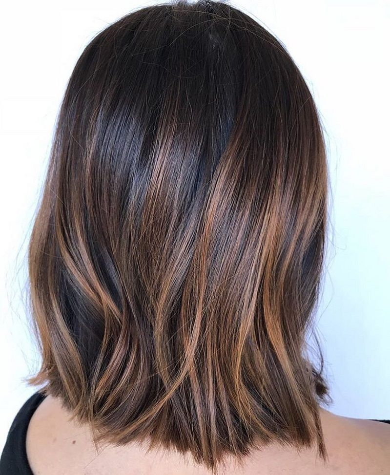 Shiny Walnut Brown Balayage Hair