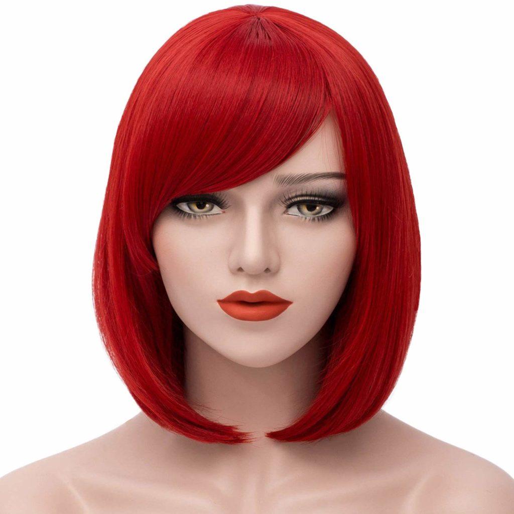 Short Bob Wig Red