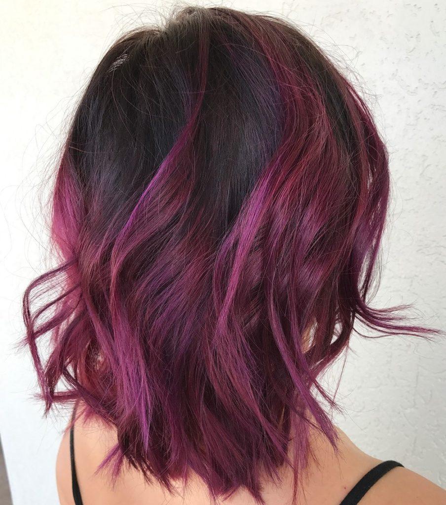 Short Burgundy Hair 1
