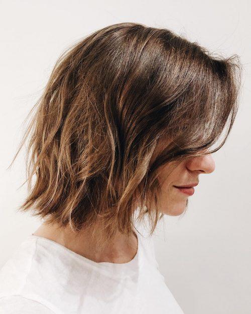 Short Dark Chocolate Layers for Thin Hair