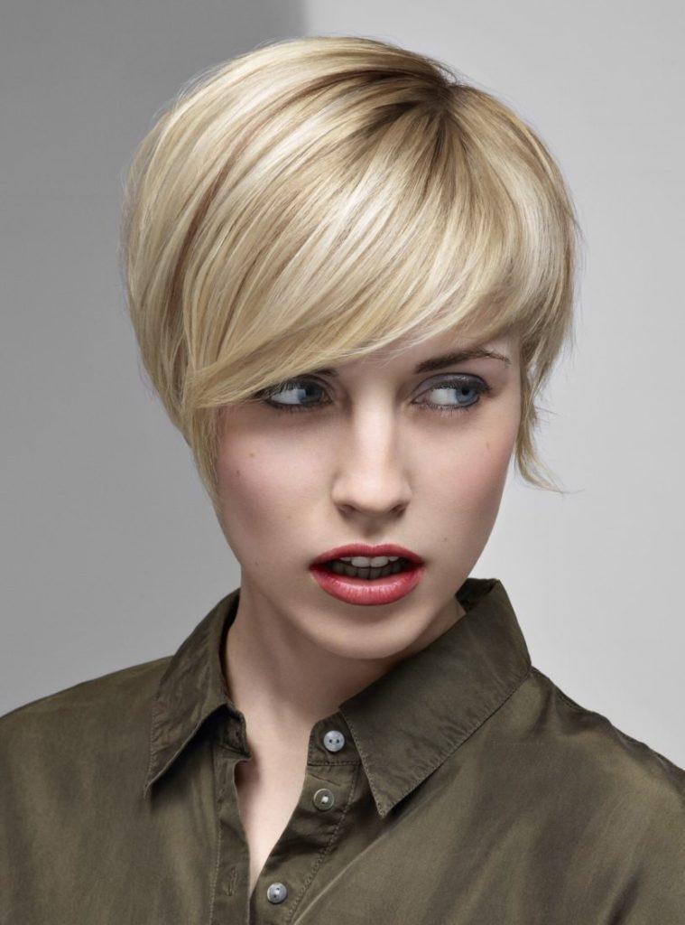 Short French Bob Blonde Color