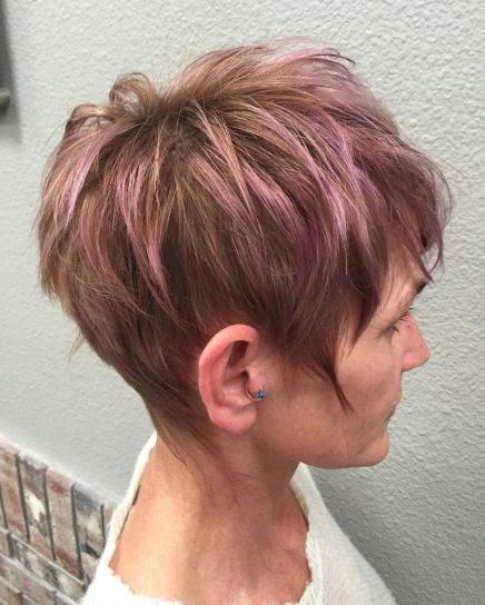 Short Messy Lilac Hairstyle