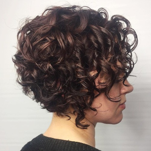 Short Stacked Curly Bob