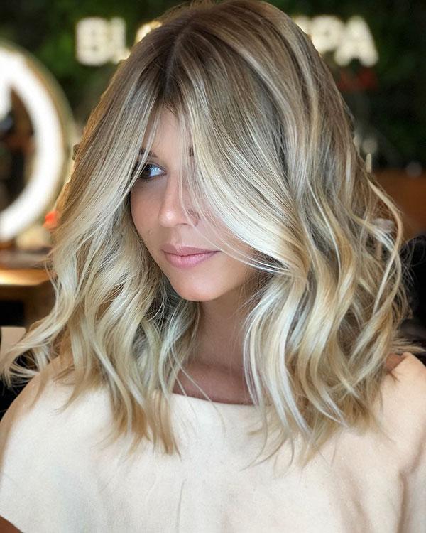 Shoulder Length Ash Blonde Hair