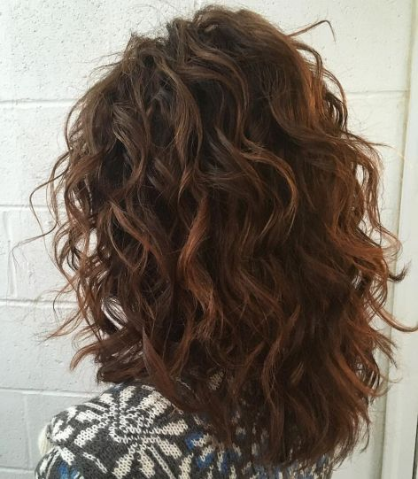 Shoulder Length Layered Cut for Curly Hair