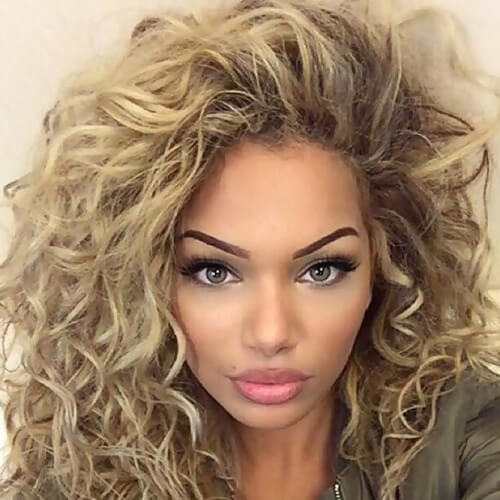 Side Tossed Curly Hair