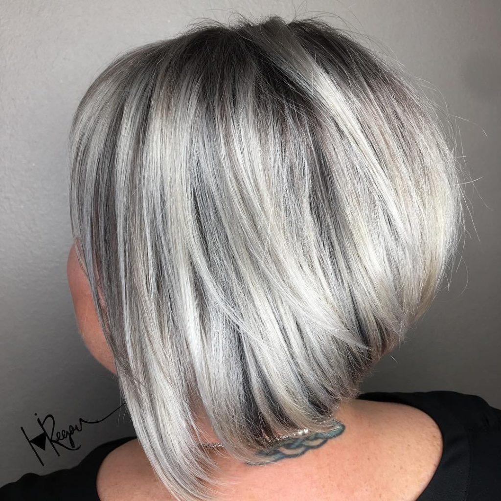 Silver Layered Bob