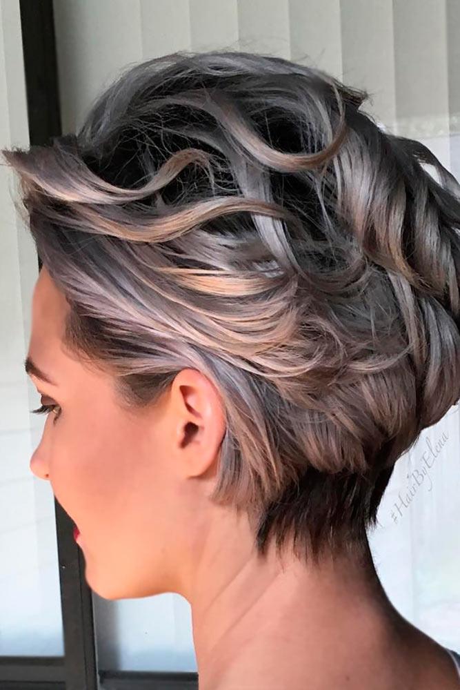 Stylish Short Grey Haircuts