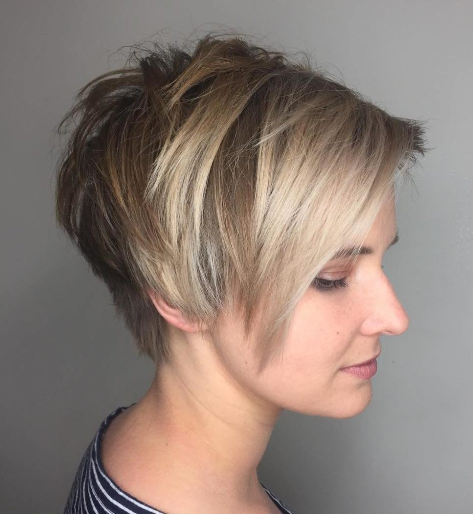 Tapered Pixie with Jagged Layers