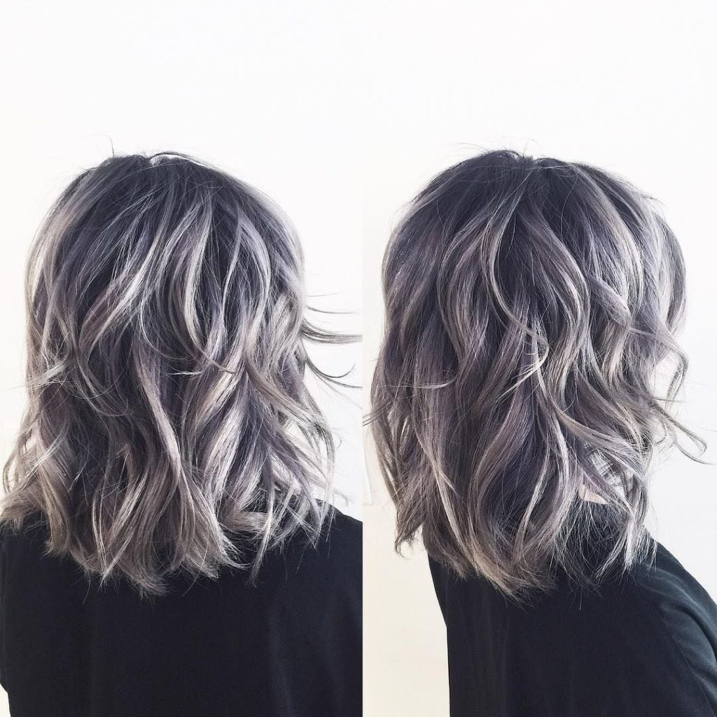 This Dark and Light Gray Hair Color