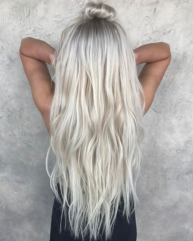 This Icy Gray Hair Color