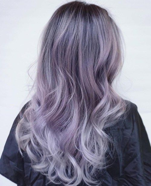 This Purple Gray Hair Color