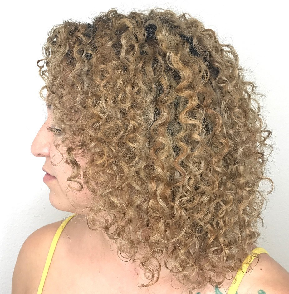 Toasted Blonde Curls