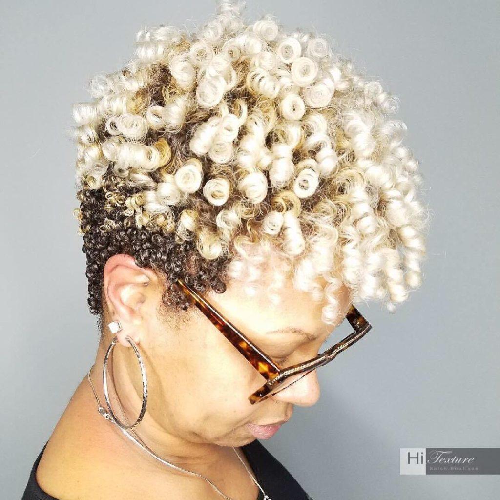 Two Tone Blonde Natural Undercut