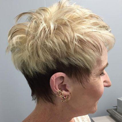 Two Tone Spiky Short Haircut