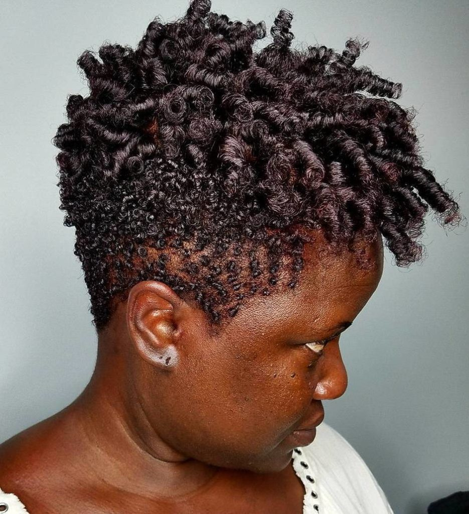 Undercut and Twist Out Curls