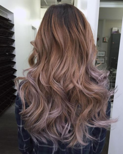 Voluminous Ombre Hair with Layers