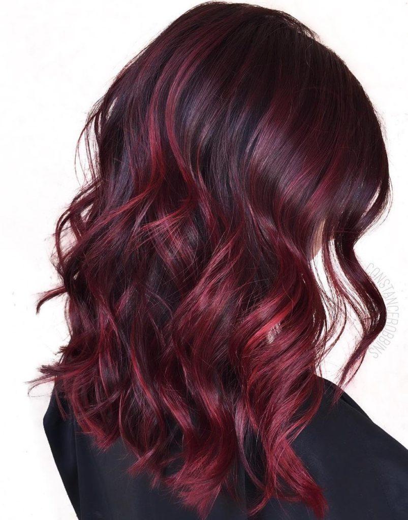 Volumizing Burgundy Red Waves.