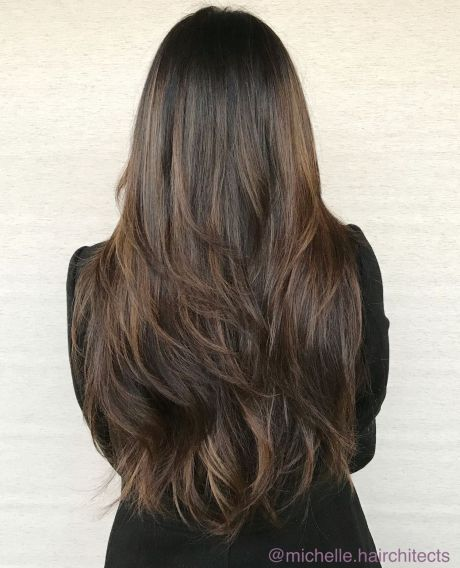 Waist Length Brunette Hair with Textured Layers