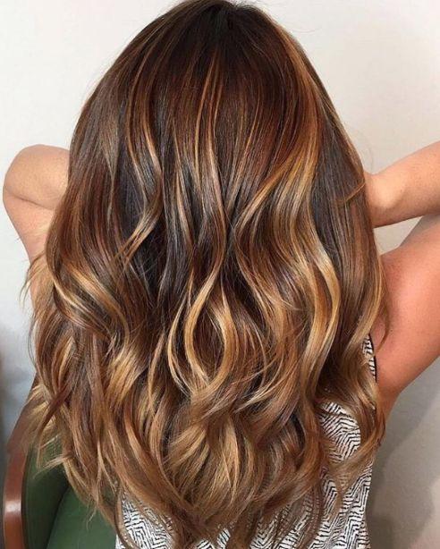 Warm Toned Brown Hair with Caramel Balayage