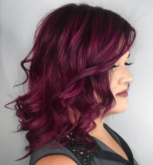Witchy Dark Burgundy Hair