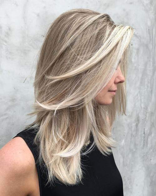 blonde with Layers and Balayage
