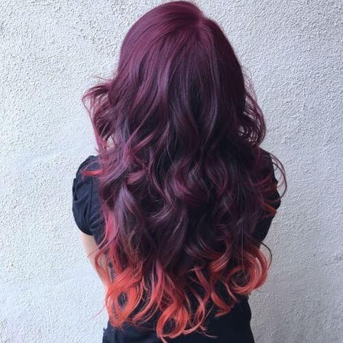light burgundy hair colour shades
