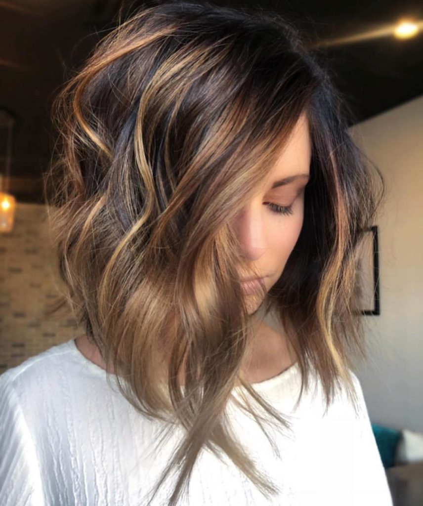 ombre balayage hairstyles for shoulder length