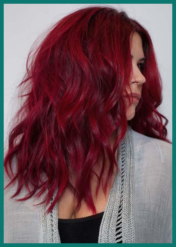 red hair moderne