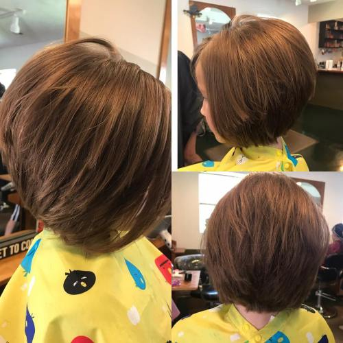 stacked Bob with Choppy Layers