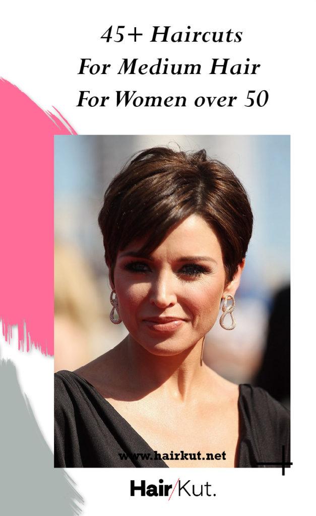 Haircuts For Medium Hair for Women over 50 Pinterest