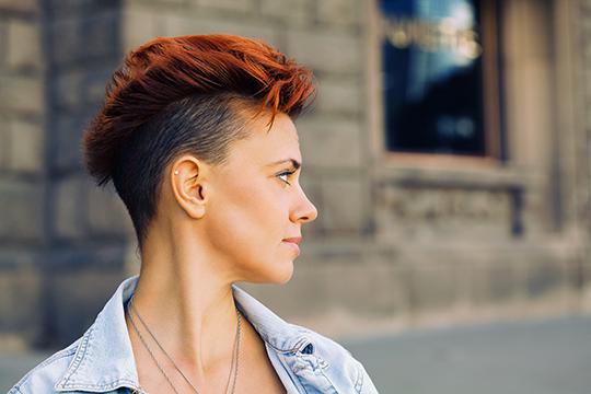 Women's half-box haircut and lifestyle