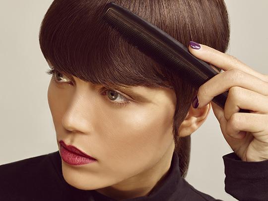 haircut female semi-box on dry hair