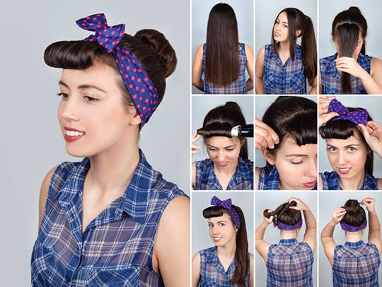 Retro hairstyles for new year 2021