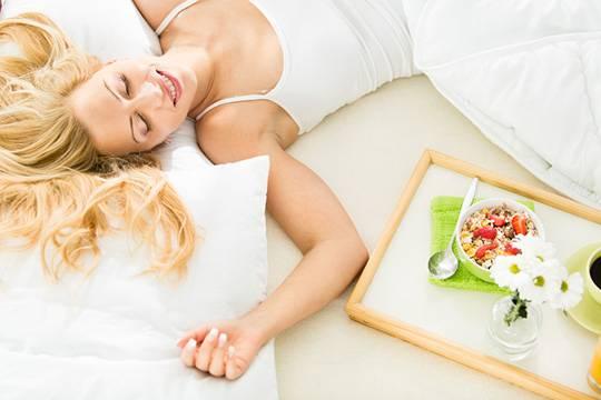 Proper food and healthy sleep