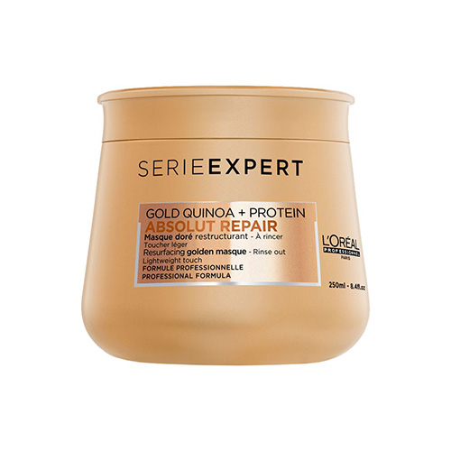 Absolut Repair mask with golden texture to restore damaged hair, 250 ml