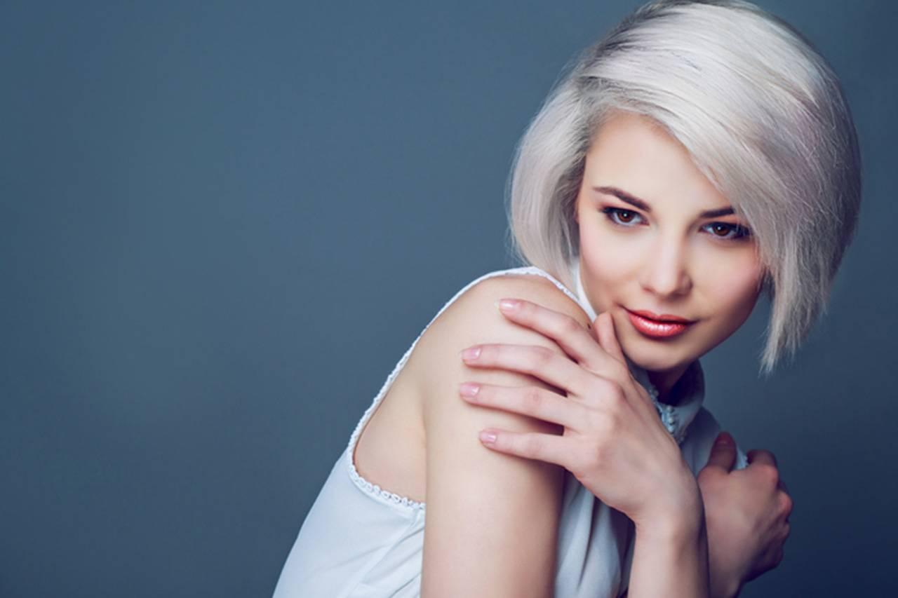 platinum blonde for brown eyes